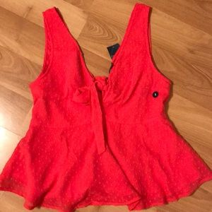 a&f pink/red top